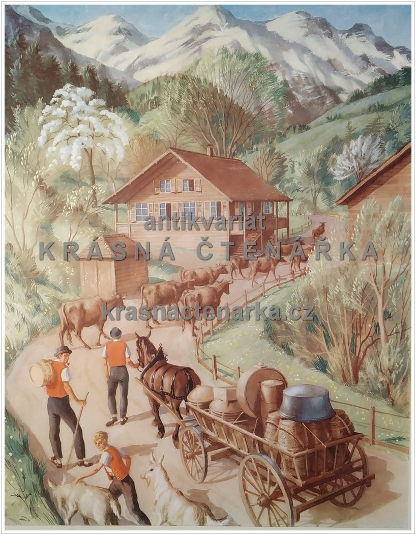 Macmillan's History Pictures: CLIMBING TO THE HIGH PASTURES IN SWITZERLAND