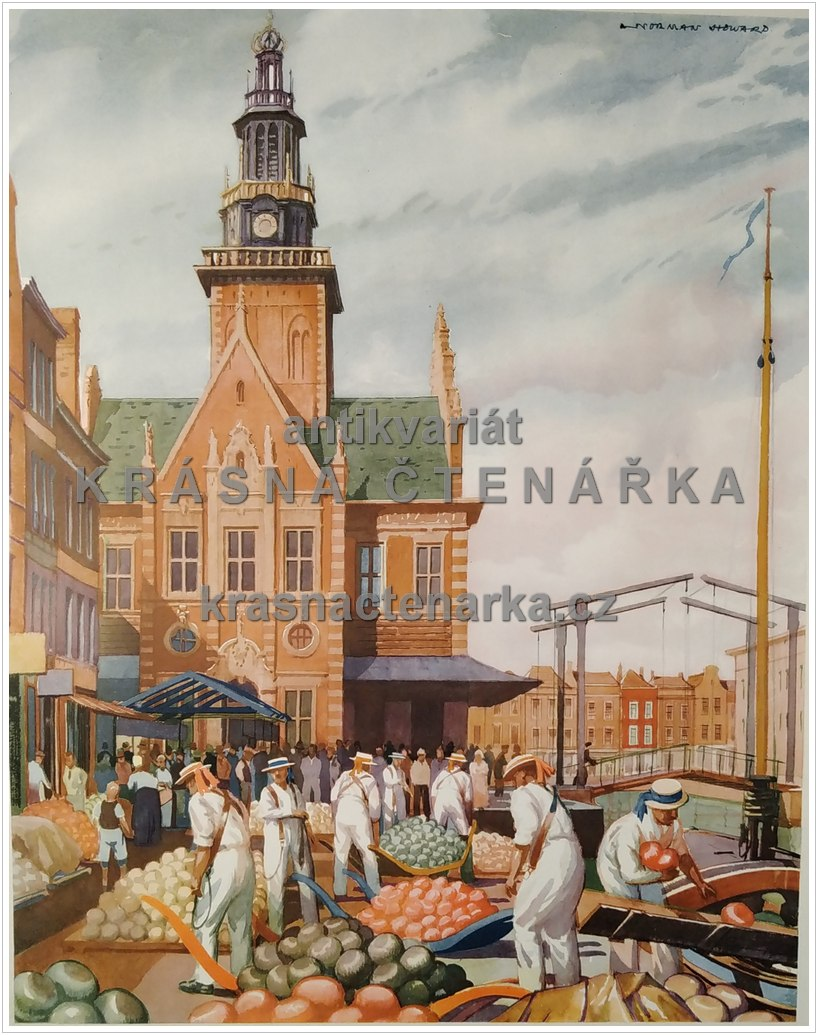 Macmillan's History Pictures: A CHEESE-MARKET IN HOLLAND