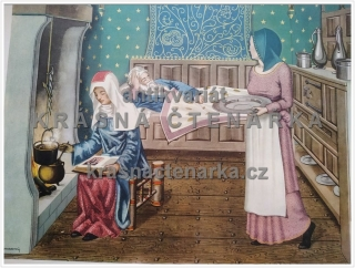 Macmillan's History Pictures: A BEDROOM SCENE, 15th C.