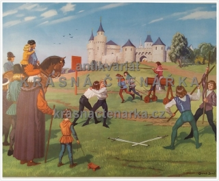 Macmillan's History Pictures: BOYS' SPORTS IN THE MIDDLE AGES
