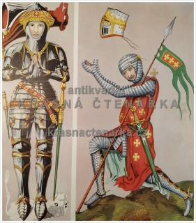 Macmillan's History Pictures: SIR RICHARD VERNON AND CRUSADING KNIGHT, 15th AND 13th C.