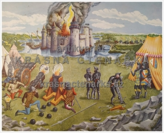 Macmillan's History Pictures: CANNON IN USE AT A SIEGE, 15th C.