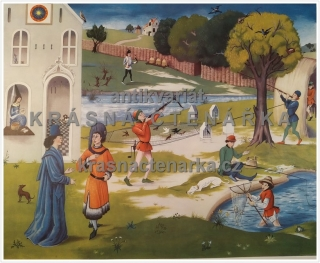 Macmillan's History Pictures: SHOOTING, FOWLING AND FISHING 15th C.