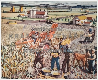 Macmillan's History Pictures: HARVESTING CORN IN THE U.S.A.